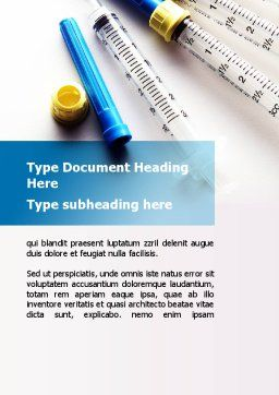 Syringes Word Template, Cover Page, 10181, Medical — PoweredTemplate.com