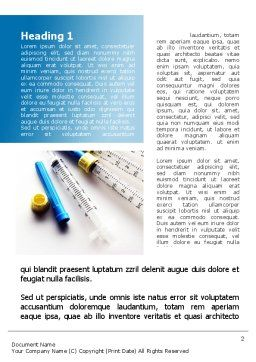 Syringes Word Template, First Inner Page, 10181, Medical — PoweredTemplate.com