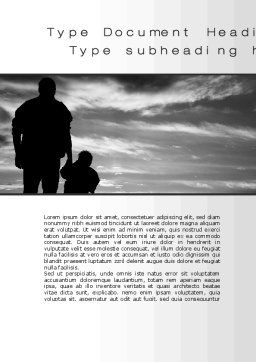 Father Word Template, Cover Page, 10182, Religious/Spiritual — PoweredTemplate.com