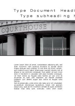 Courthouse Word Template, Cover Page, 10187, Legal — PoweredTemplate.com