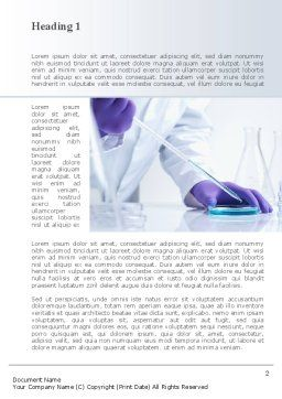 Bio Experiment Word Template, First Inner Page, 10188, Technology, Science & Computers — PoweredTemplate.com