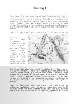 Engineering Project Word Template, First Inner Page, 10189, Careers/Industry — PoweredTemplate.com