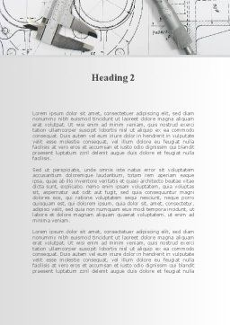 Engineering Project Word Template, Second Inner Page, 10189, Careers/Industry — PoweredTemplate.com