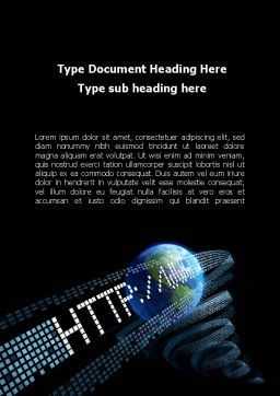 URL Word Template, Cover Page, 10192, Technology, Science & Computers — PoweredTemplate.com