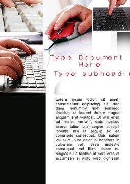 IO Device Word Template, Cover Page, 10193, Technology, Science & Computers — PoweredTemplate.com