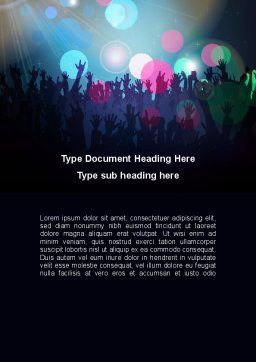 Fan Zone Word Template, Cover Page, 10197, Careers/Industry — PoweredTemplate.com