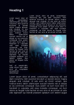 Fan Zone Word Template, First Inner Page, 10197, Careers/Industry — PoweredTemplate.com