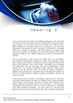 Addicted to Speed Word Template, Second Inner Page, 10198, Careers/Industry — PoweredTemplate.com