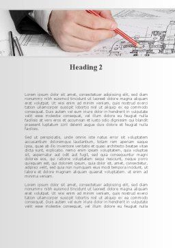 Engineering Analysis Word Template, Second Inner Page, 10199, Careers/Industry — PoweredTemplate.com