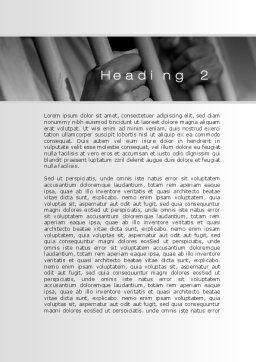 Custody Word Template, Second Inner Page, 10201, Legal — PoweredTemplate.com