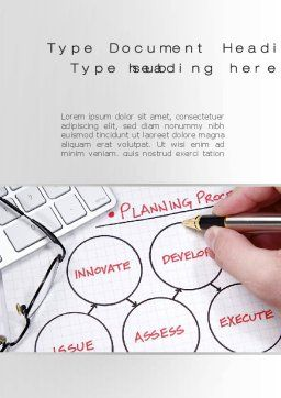 Planning Process Word Template, Cover Page, 10206, Business Concepts — PoweredTemplate.com