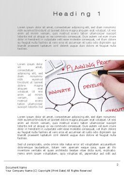 Planning Process Word Template, First Inner Page, 10206, Business Concepts — PoweredTemplate.com