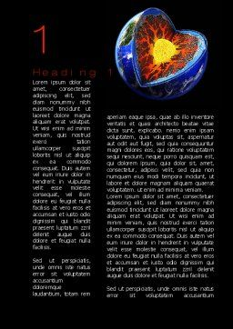 Core of the Earth Word Template, First Inner Page, 10208, Education & Training — PoweredTemplate.com