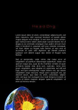 Core of the Earth Word Template, Second Inner Page, 10208, Education & Training — PoweredTemplate.com