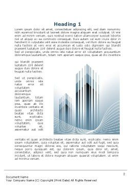 Floating City Word Template, First Inner Page, 10210, Construction — PoweredTemplate.com