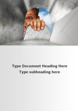 Unexpected Mail Word Template, Cover Page, 10213, Business Concepts — PoweredTemplate.com