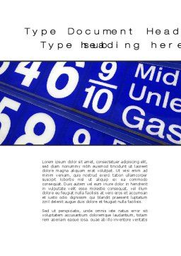Gasoline Prices Word Template, Cover Page, 10215, Financial/Accounting — PoweredTemplate.com