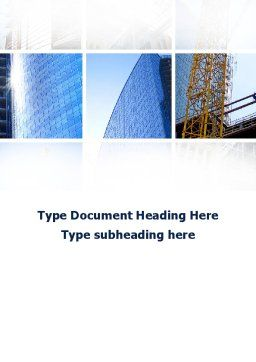 Building Business Word Template, Cover Page, 10218, Construction — PoweredTemplate.com