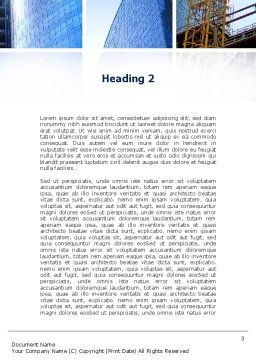 Building Business Word Template, Second Inner Page, 10218, Construction — PoweredTemplate.com