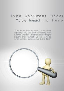 Search Word Template, Cover Page, 10220, Business Concepts — PoweredTemplate.com