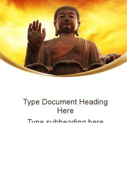 Buddha Word Template Cover Page