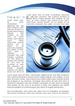 Cardiology Word Template, First Inner Page, 10226, Medical — PoweredTemplate.com