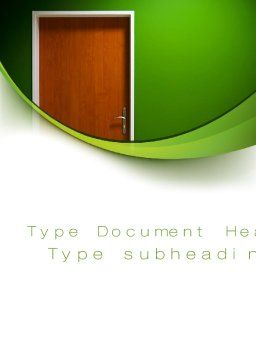 Door Word Template, Cover Page, 10227, Construction — PoweredTemplate.com