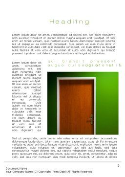 Door Word Template, First Inner Page, 10227, Construction — PoweredTemplate.com
