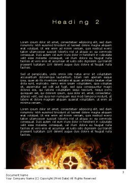 Burning Mechanism Word Template, Second Inner Page, 10231, Utilities/Industrial — PoweredTemplate.com