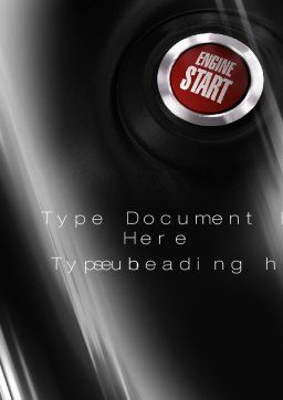 Start Engine Word Template, Cover Page, 10234, Cars/Transportation — PoweredTemplate.com