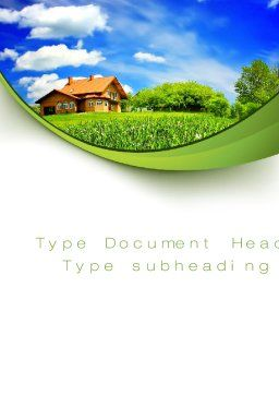 Village House Word Template, Cover Page, 10235, Construction — PoweredTemplate.com