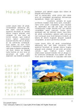 Village House Word Template, First Inner Page, 10235, Construction — PoweredTemplate.com