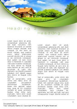 Village House Word Template, Second Inner Page, 10235, Construction — PoweredTemplate.com