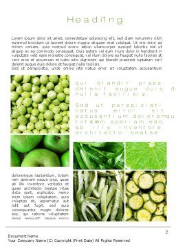 Green Vitamins Word Template, First Inner Page, 10240, Agriculture and Animals — PoweredTemplate.com
