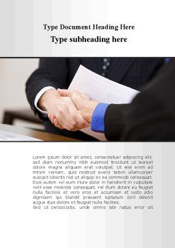 Pact Word Template, Cover Page, 10242, Consulting — PoweredTemplate.com