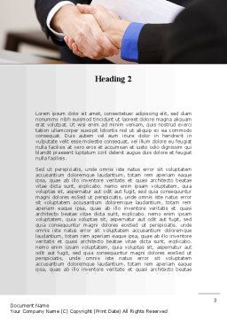 Pact Word Template, Second Inner Page, 10242, Consulting — PoweredTemplate.com