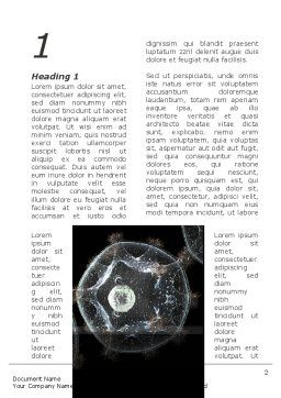 Virus Colony Word Template, First Inner Page, 10247, General — PoweredTemplate.com