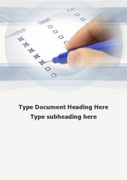 Evaluation Check Word Template, Cover Page, 10248, Education & Training — PoweredTemplate.com