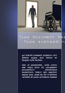 Medical Recovery Word Template, Cover Page, 10249, Medical — PoweredTemplate.com