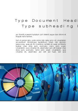 Worldwide Report Word Template, Cover Page, 10252, Business Concepts — PoweredTemplate.com