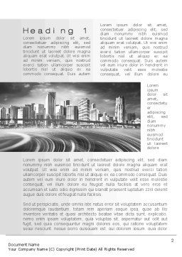 Monochrome City Word Template, First Inner Page, 10253, Construction — PoweredTemplate.com