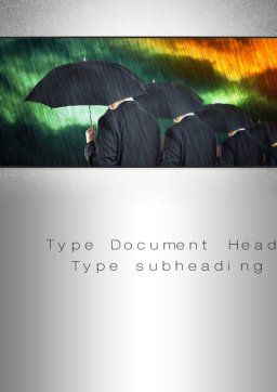 Bad Weather Word Template, Cover Page, 10256, Business Concepts — PoweredTemplate.com