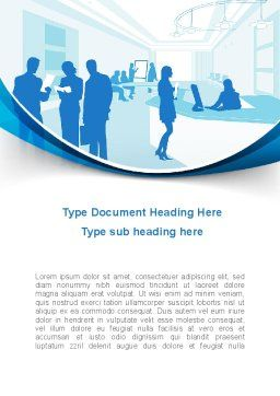 Office Silhouettes Word Template, Cover Page, 10257, Business — PoweredTemplate.com