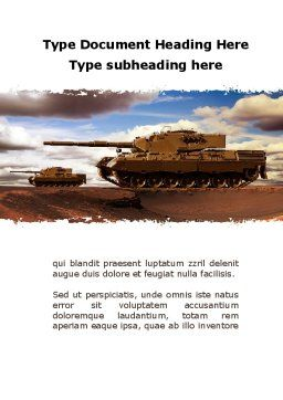 Tank Attack Word Template, Cover Page, 10258, Military — PoweredTemplate.com