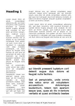 Tank Attack Word Template, First Inner Page, 10258, Military — PoweredTemplate.com
