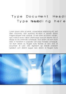 Light at the End of Corridor Word Template, Cover Page, 10259, Medical — PoweredTemplate.com
