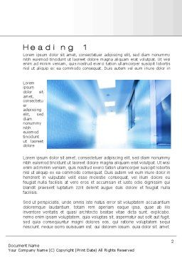Light at the End of Corridor Word Template, First Inner Page, 10259, Medical — PoweredTemplate.com