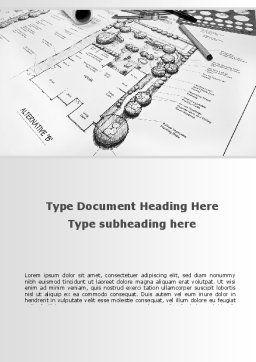 Landscape Design Word Template, Cover Page, 10261, Construction — PoweredTemplate.com