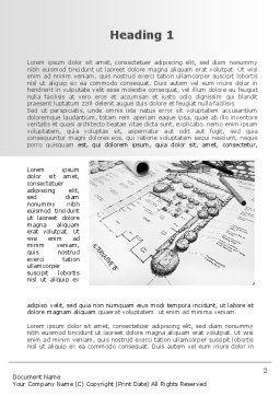 Landscape Design Word Template, First Inner Page, 10261, Construction — PoweredTemplate.com