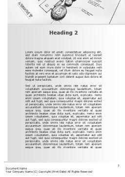 Landscape Design Word Template, Second Inner Page, 10261, Construction — PoweredTemplate.com